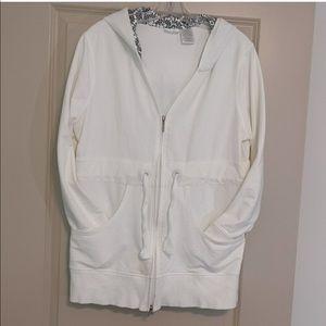 Danskin white zipper hoodie